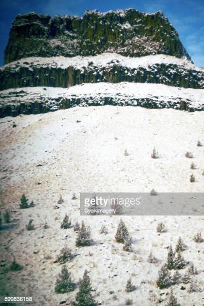 Winter rock formation