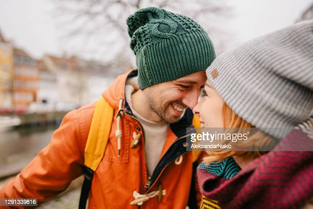 winter romance - scandinavian ethnicity stock pictures, royalty-free photos & images