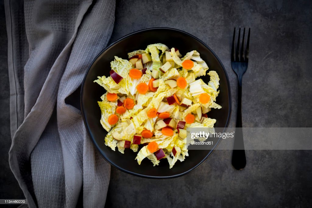 Winter salad with chinese cabbage, apple and carrot : ストックフォト