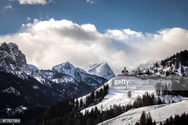 winter scene from dolomiti heart - fabrizio penso foto e immagini stock