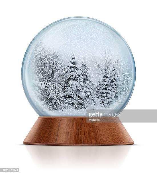 Scène d'hiver dans la neige Globe