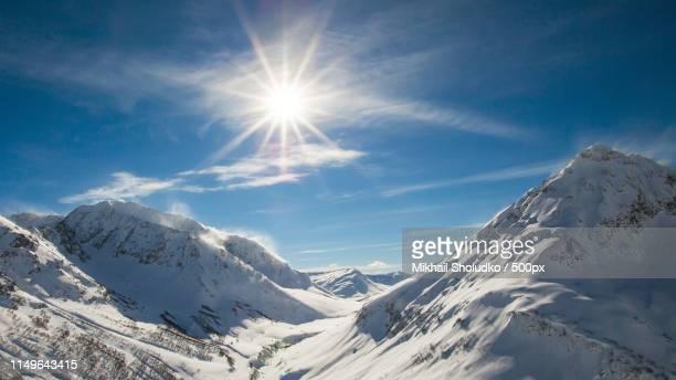 winter scene - sotsji stockfoto's en -beelden