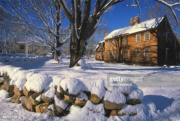 paisagens de inverno - massachusetts - fotografias e filmes do acervo