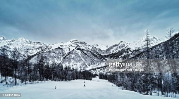 winter season - embrun stock photos and pictures