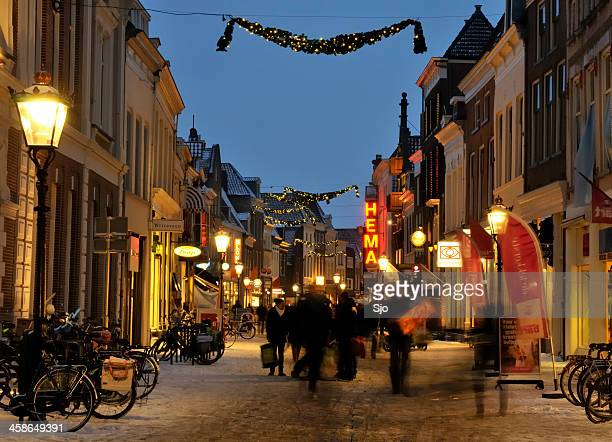 winter shopping - overijssel stock pictures, royalty-free photos & images
