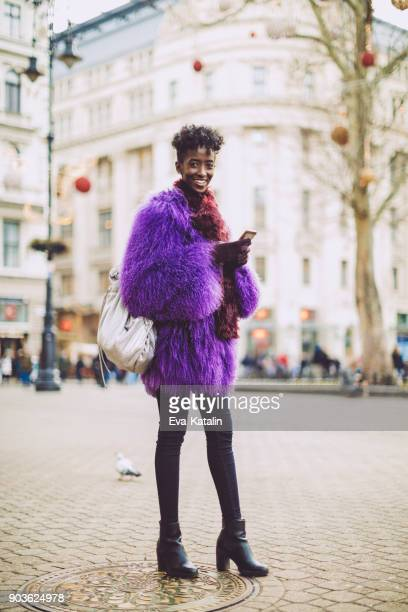 winter shopping - african american christmas images stock pictures, royalty-free photos & images