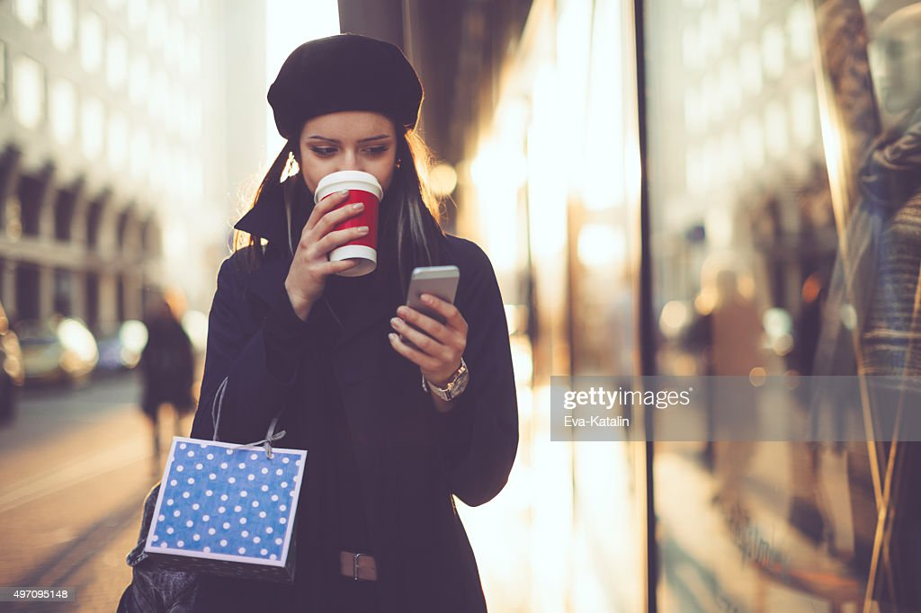 Winter shopping season : Stock Photo