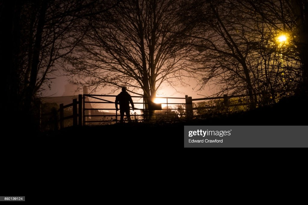 Winter silhouette : Stock Photo