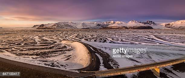 Winter, Skeidararsandur outwash plains, Iceland