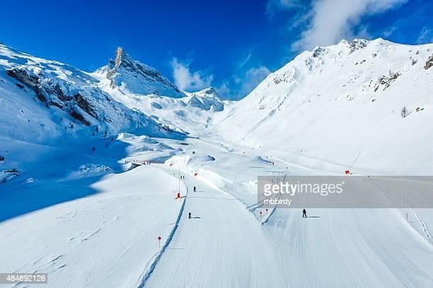 Winter ski resort Hintertux, Tirol, Österreich