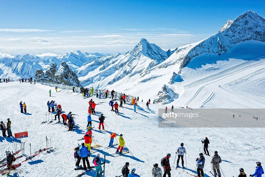 Winter ski resort Hintertux, Tirol, Austria : Stock Photo