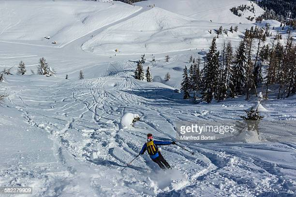 Winter skiing in the Dolomites