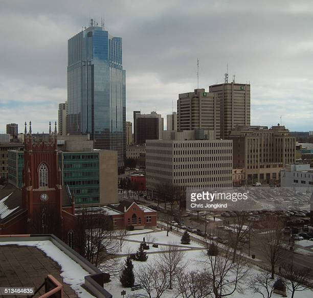 winter skyline - london ontario stock photos and pictures