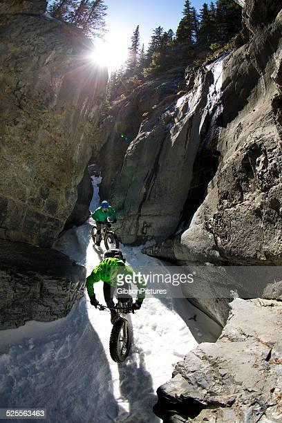 Winter Snow Mountain Biking