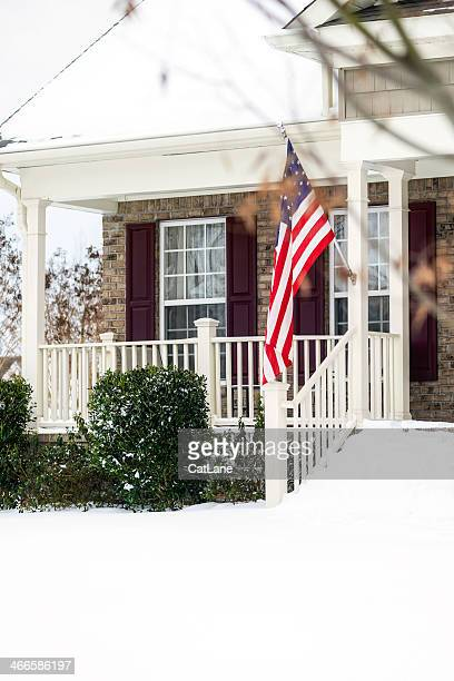 Winter Snow Storm in Virginia, USA