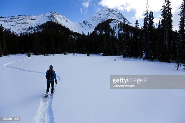 Winter Snowshoe Adventure Girl