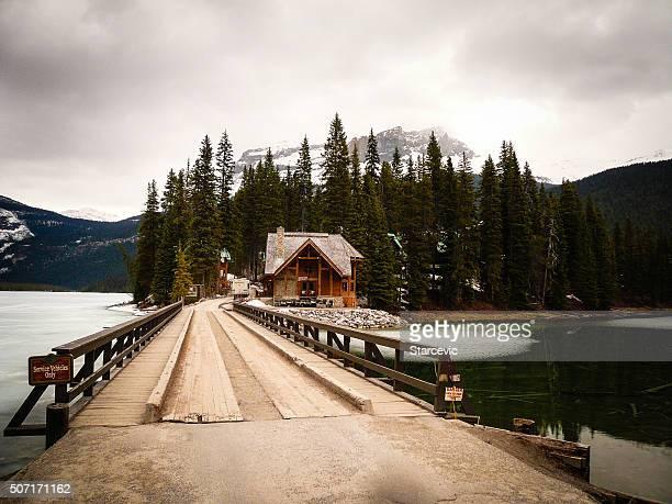 冬ユキコ-カナディアンロッキー山脈の景色