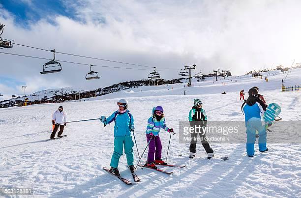 Winter sport activities at Perisher