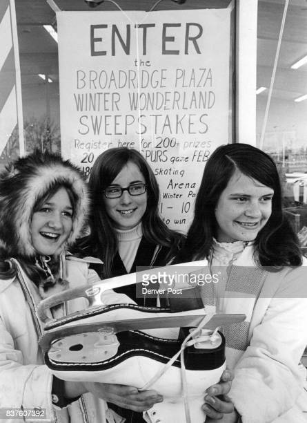 Winter Sports Promoted Teenage girls left to right Mindy Hekking 6606 S Apache Drive Judy Stelloh 141 W Acoma Drive and Margaret McGinnis 515 W...