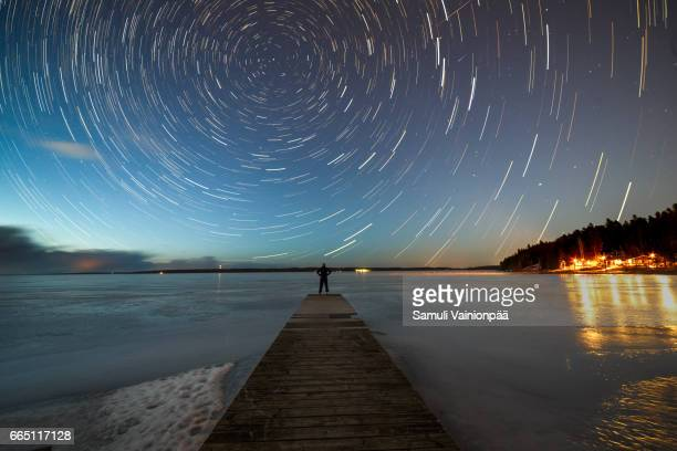 winter stargazing in tampere - majestic stock photos and pictures