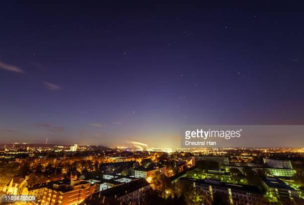 winter stars over bonn city - bonn stock-fotos und bilder