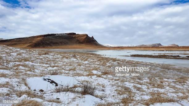 winter steppe in khakassia. - 平地 ストックフォトと画像