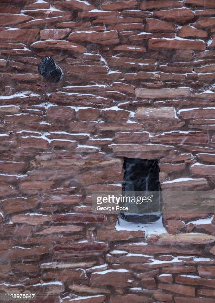 A winter storm drops several inches of snow along the South Rim and in parts of the canyon on February 6 in Grand Canyon National Park Arizona Grand...