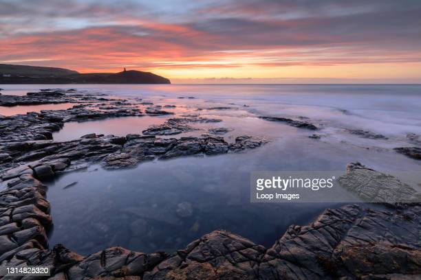 Winter sunrise at Kimmeridge Bay.