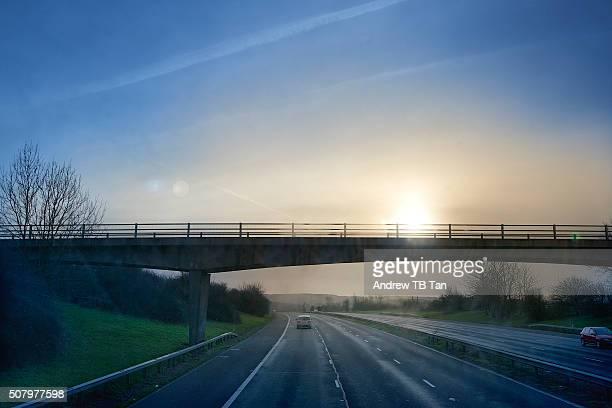 Winter Sunrise over Motorway