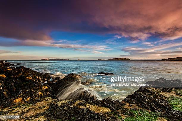 winter sunrise - dalkey stock pictures, royalty-free photos & images