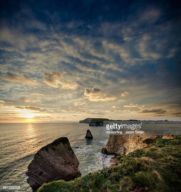 winter sunset at freshwater bay - s0ulsurfing stock pictures, royalty-free photos & images