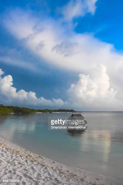 A winter sunset before the storm at the Caribbean sea in Cayo Santa Maria, Cuba