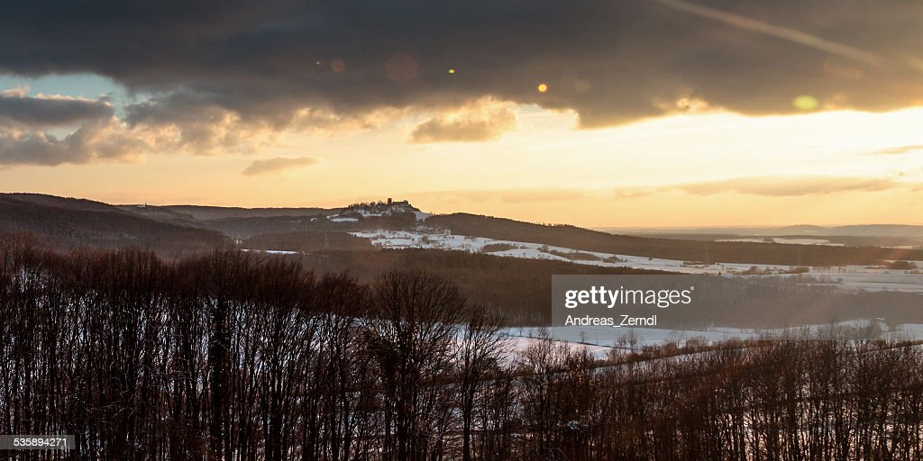 Winter Sonnenuntergang Landschaft : Stock-Foto
