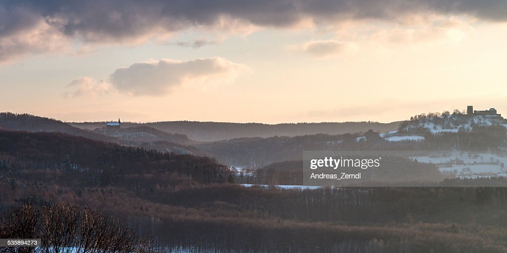Winter Sunset Landscape : Stock Photo