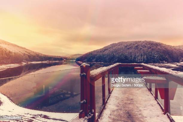 winter sunset - fossil site stock pictures, royalty-free photos & images