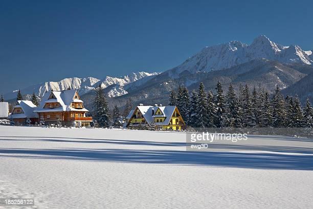 Winter Tatra Mountains landscape