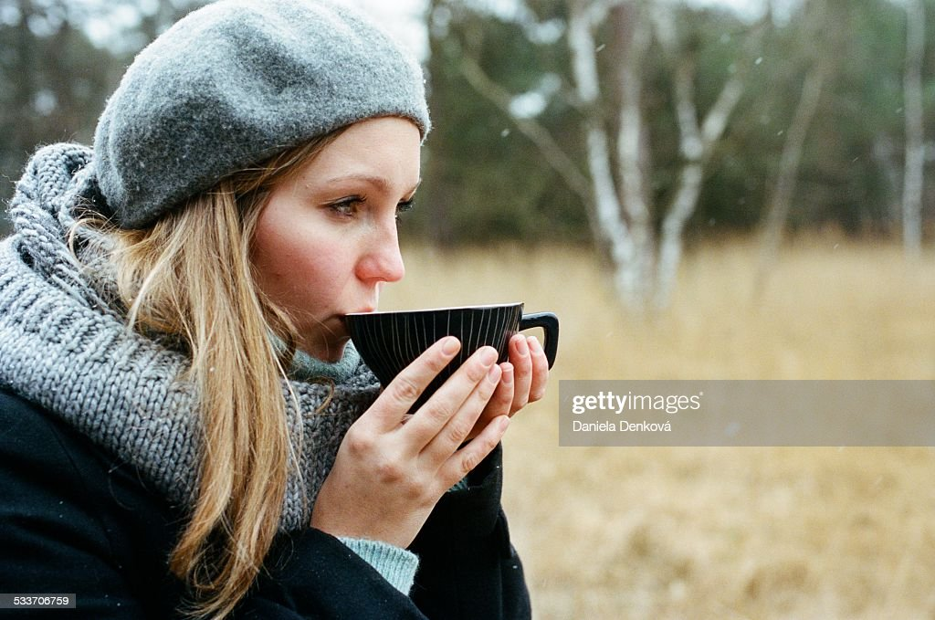 Winter tea : Foto stock