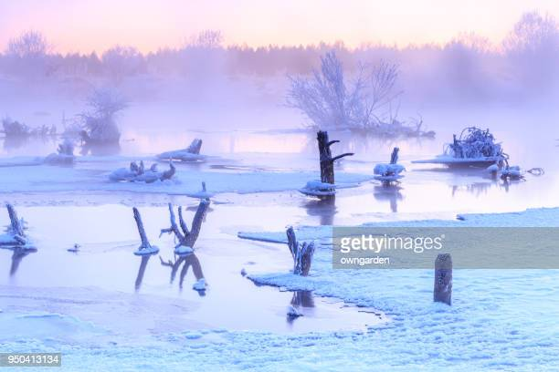 Winter, the beautiful songhua river