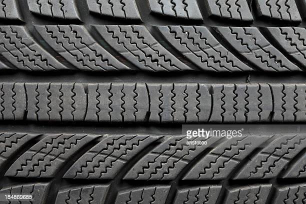 Winter Tire Pattern Background