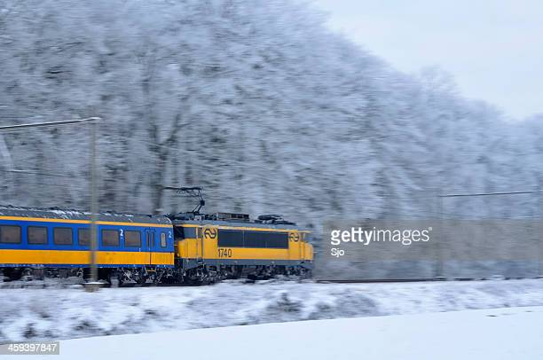 "winter train - ""sjoerd van der wal"" or ""sjo"" stock pictures, royalty-free photos & images"