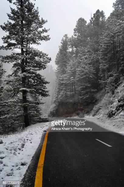 Winter Travel Road
