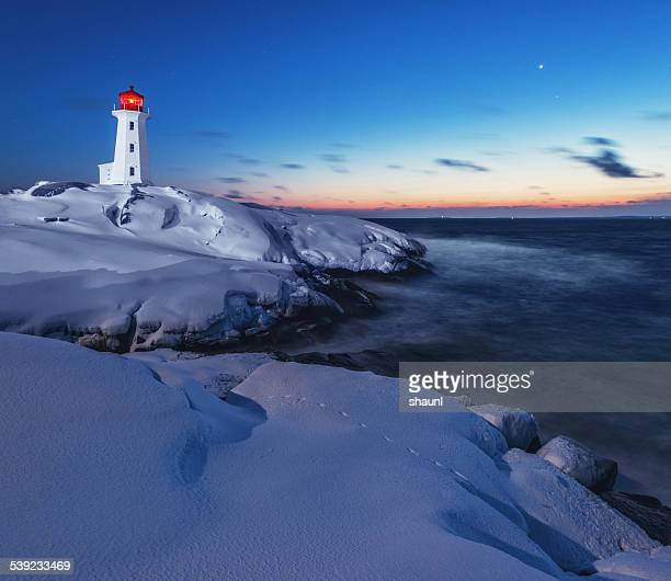Winter Twilight at Lighthouse