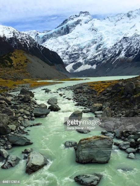 Winter view in hooker glacier trail