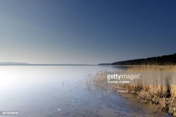 Winter view of the Großer Jasmunder Bodden near Glowe on the island of Ruegen on February 09 2018 in Glowe Germany