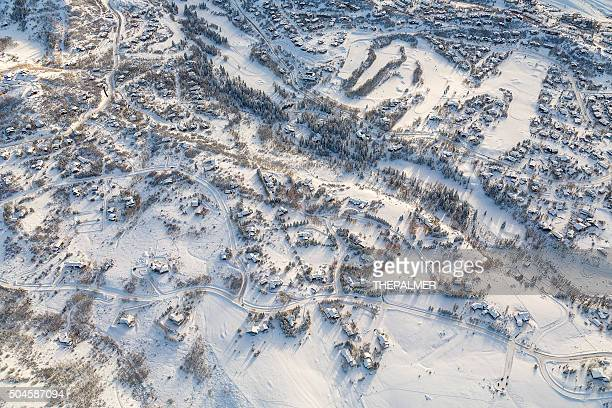 winter village, colorado - steamboat springs colorado - fotografias e filmes do acervo