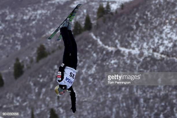 Winter Vinecki of the United States competes in the Ladies' Aerials qualifying during the 2018 FIS Freestyle Ski World Cup at Deer Valley Resort on...