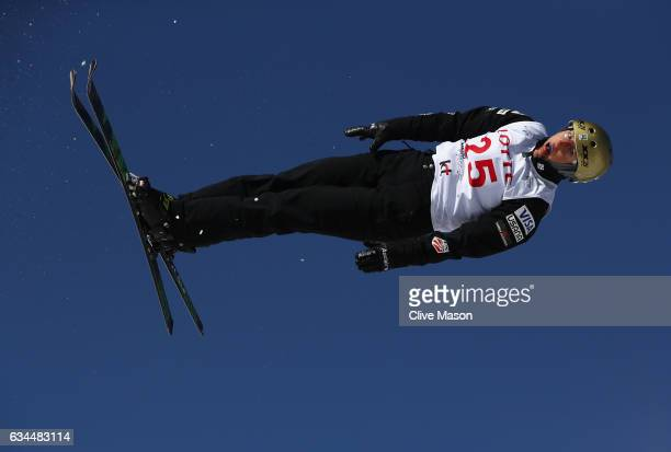 Winter Vinecki of USA in action during quaification for Ladies Aerials at the FIS Freestyle Ski World Cup 2016/17 Aerials at Bokwang Snow Park on...