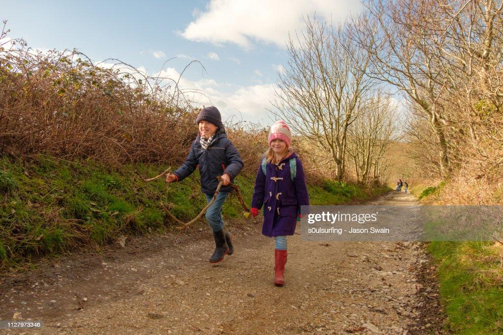 Winter Walk in the Woods : Stock Photo
