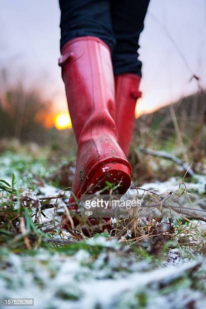 Winter Walk in Wellies