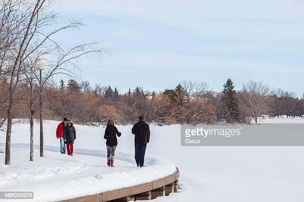 winter walking - regina saskatchewan stock pictures, royalty-free photos & images